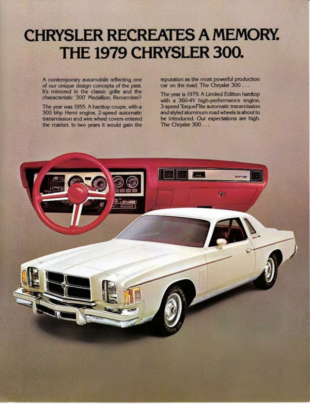 Advertisement for the 1979 Chrysler Cordoba 300