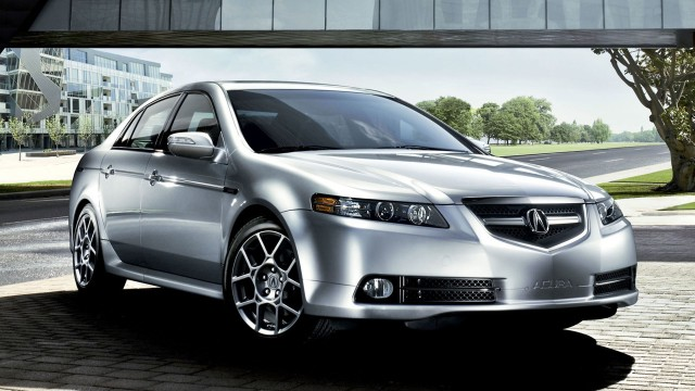 Front view of a silver Acura TL Type-S
