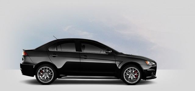 profile view of a 2015 Mitsubishi Evo MR