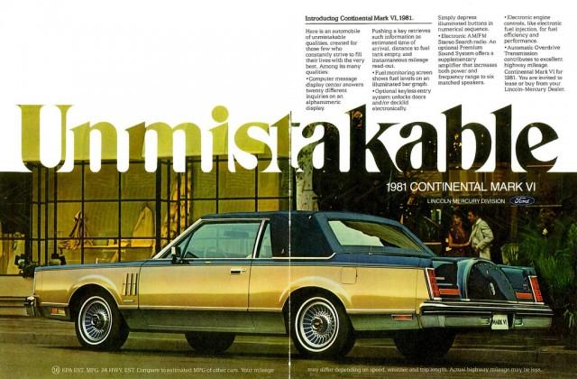 Lincoln Continental Mk VI ad