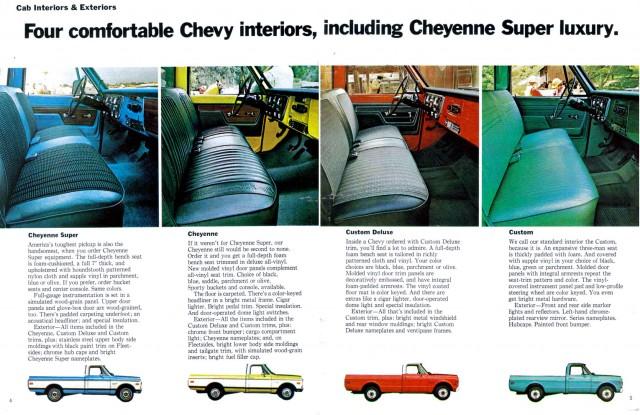 1973 Chevrolet Pickup booklet