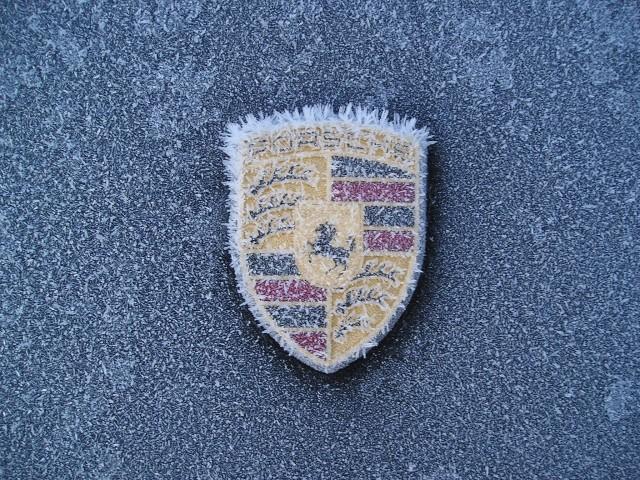 Frozen Porsche logo