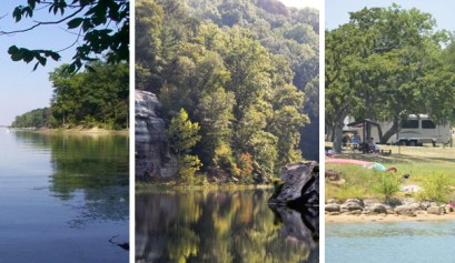 camping locations in ohio, picture of 3 different camping locations in ohio
