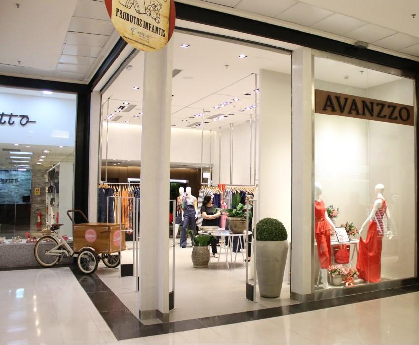 Fachada da nova loja Avanzzo