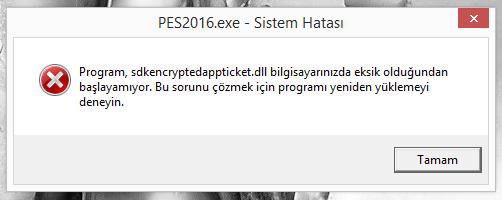 sdkencryptedappticket-dll-pes-2016-hatasi-pc