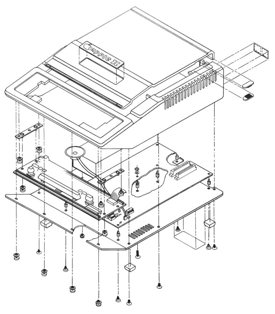 Schéma éclaté de l'Apple II