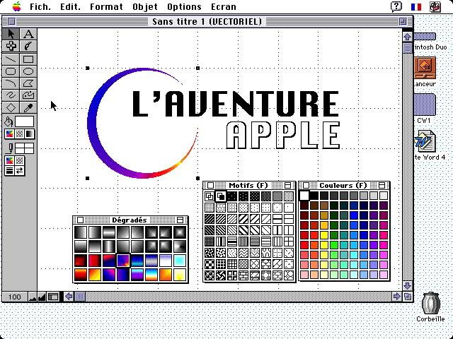 ClarisWorks sur Macintosh