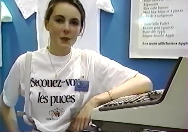 Apple Expo 1985 hôtesse