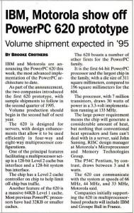 IBM Motorola PowerPC 620