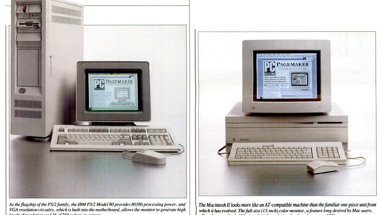 Macintosh II, IBM PS/2