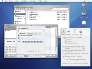 MacOS X 10.3 Brushed Metal et Aqua
