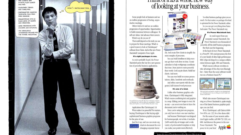 Apple 1994 Ad, Claris Impact