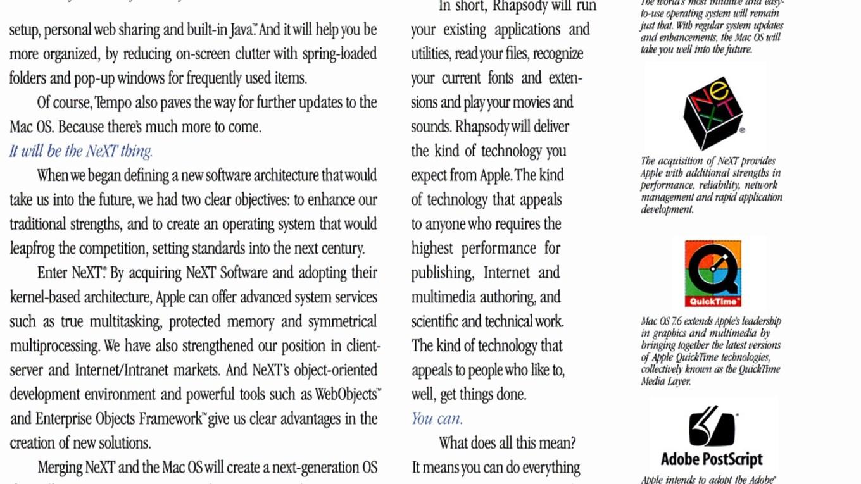 Apple 1997 Mac OS Report ad