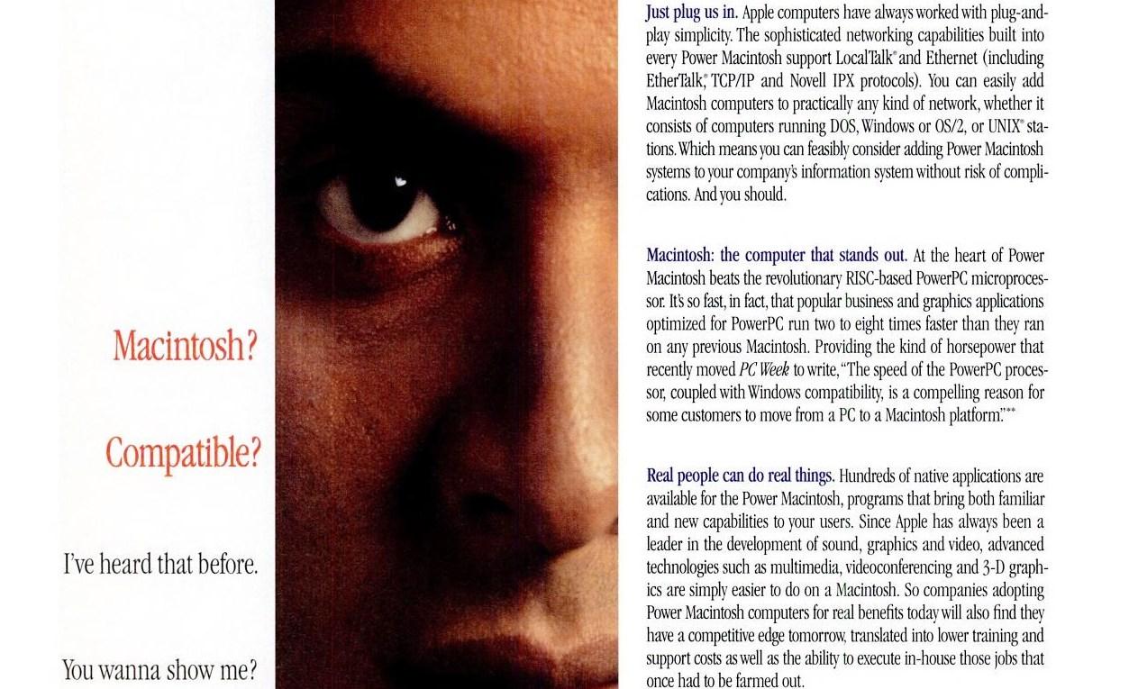 1995 Apple ad - Macintosh Compatibility