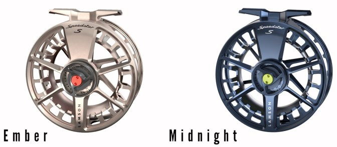 Waterworks-Lamson Speedster Fly Reel in Ember and Midnight