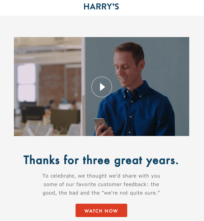 thanking customers in email
