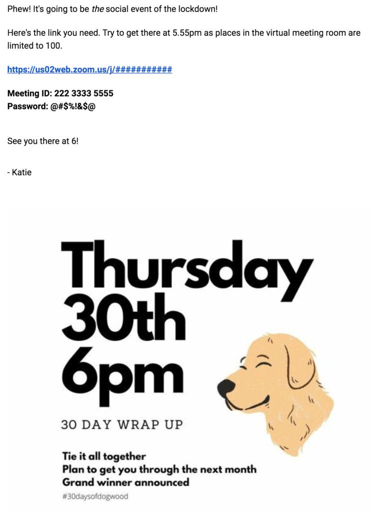 Dogwood webinar invite