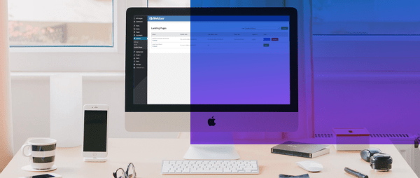 AWeber landing page added to a WordPress website