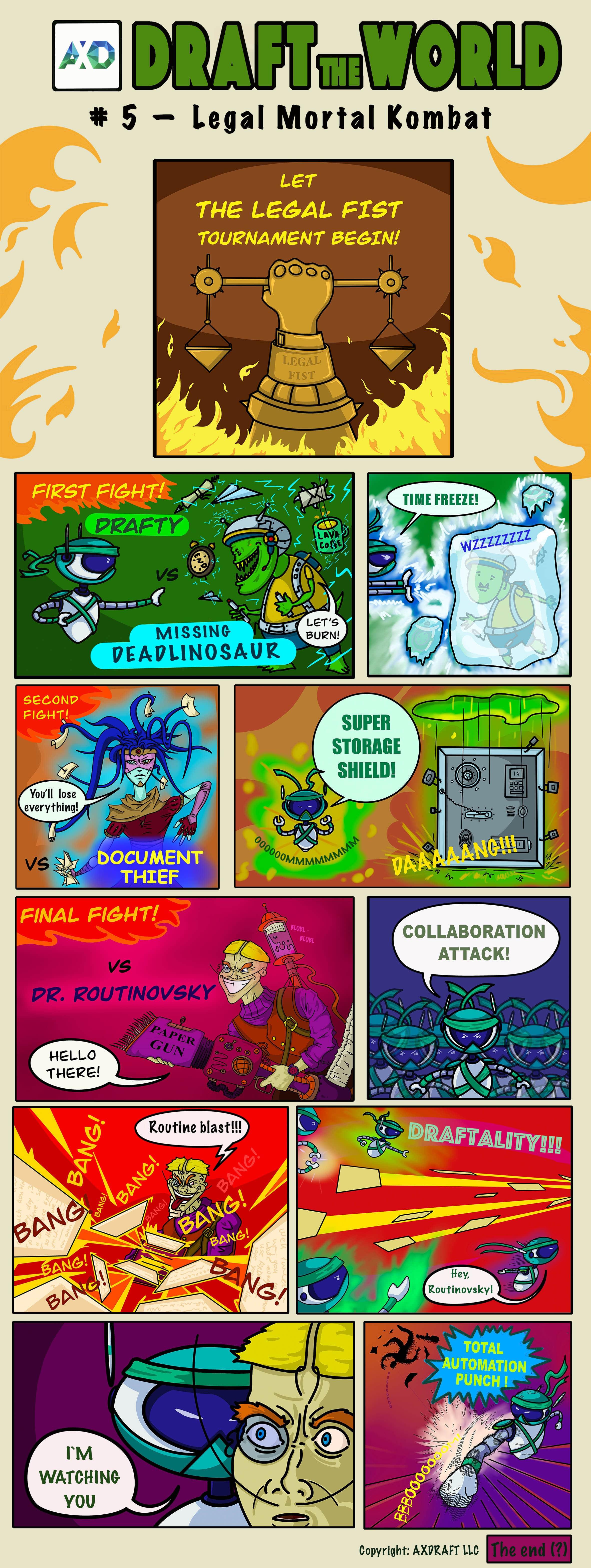 Draft the World comics by AXDRAFT - Legal Mortal Kombat