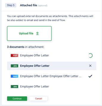 AXDRAFT QuickDocs attach a file