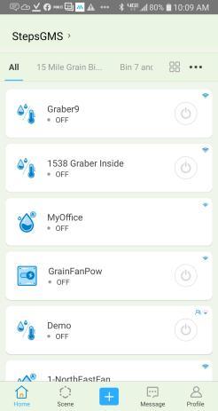 Screen shot from app