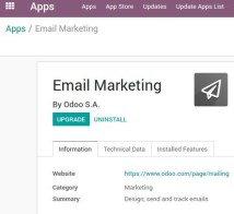 Odoo Email marketing app