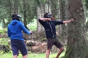 Archery tag activité insolite à Grenoble