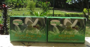 Natural Moringa Soap in box