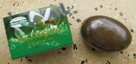 Moringa Oleifera Soap reducing bacterial contamination.