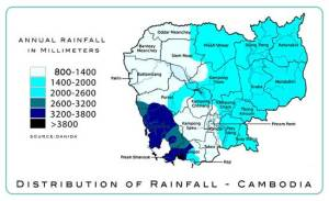 Map-rainfall-Cambodia