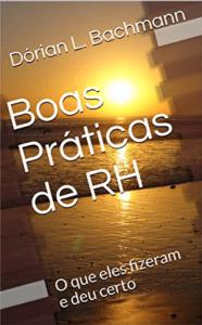 """Capa do livro """"Boas práticas de RH"""", com um sol dourado ilumionando a praia."""