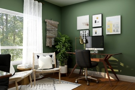 Room with Desk and Workspace