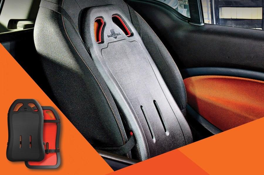 Backshield on car seat
