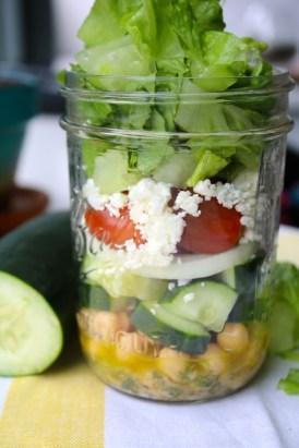 greek salad in a jar dressing herbs fresh recipe