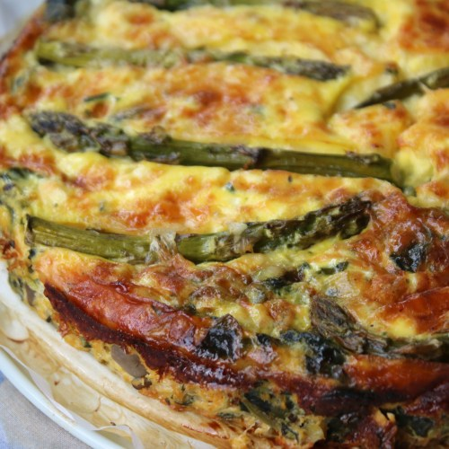mushroom crustless veggie quiche healthy recipe