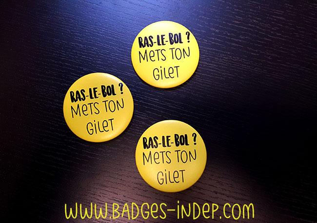 badge gilet jaune un badge personnalis pour vos manifestations. Black Bedroom Furniture Sets. Home Design Ideas