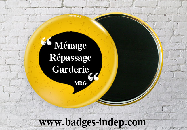Badge magnet frigo personnalisable