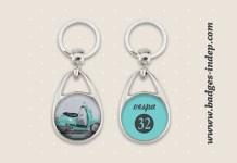 Porte-clés personnalisés métal format rond