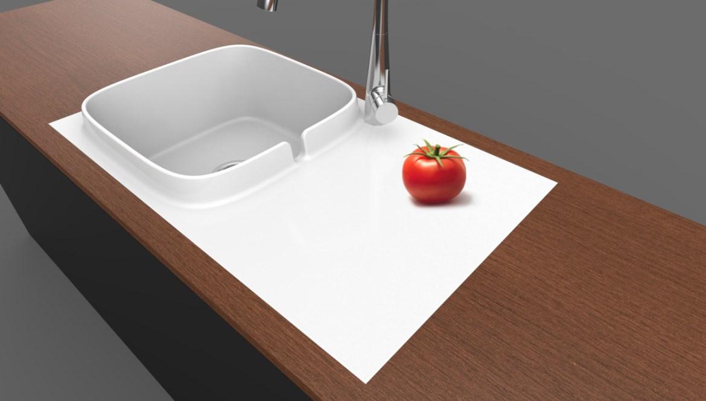 """Scarabeo presenta il primo lavello da cucina """"Up"""""""