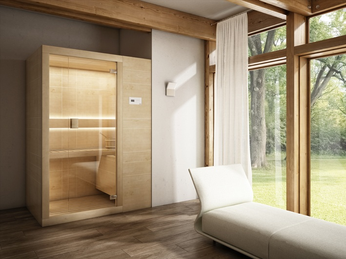 Arja la sauna finlandese firmata teuco bagno italiano blog - Bagno finlandese ...