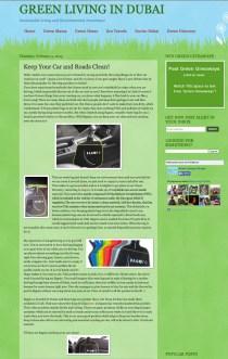"Article presse ""Green Living in Dubai"""