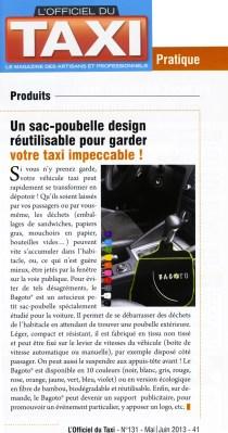 """Article presse """"L'Officiel du Taxi"""""""
