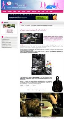 """Article presse """"Voitures au Féminin"""" .fr"""