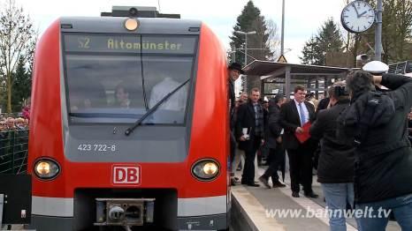 Ankunft des Sonderzuges am 14.12.2014 im Endbahnhof Altomünster.