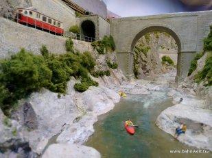 H0m-Anlage Schmalspurbahn Tournon-Lamastre der Modellbahnfreunde de Maaslijn
