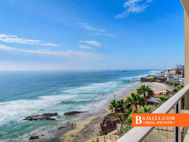 Oceanfront Condo For Sale in Las Olas, Rosarito Beach