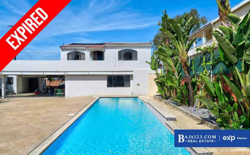 EXPIRED – Single Story Home For Sale in Downtown, Playas de Rosarito – $320,000 USD