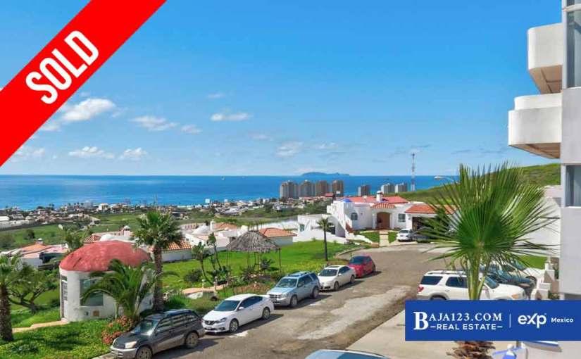 SOLD – Ocean View Condo For Sale in Costa de Oro, Rosarito Beach – $159,000 USD
