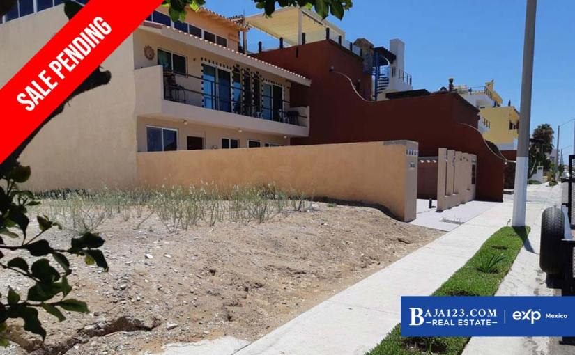 SALE PENDING – Ocean View Lot For Sale in Mision Viejo, Rosarito Beach – $91,500 USD