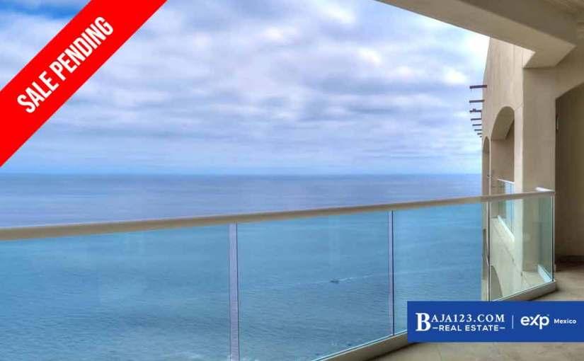SALE PENDING – Oceanfront Condo For Sale in Las Olas Grand, Rosarito Beach – $275,000 USD